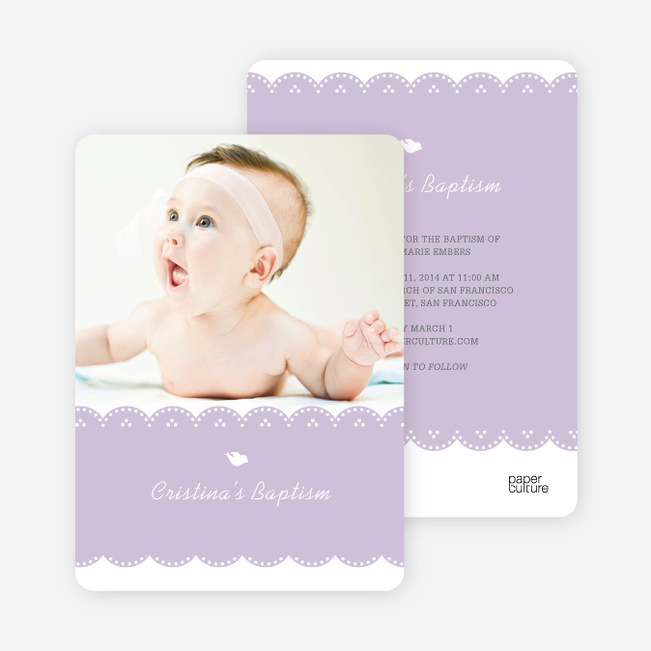 Baptism Invitations And Christening Invitations Paper Culture