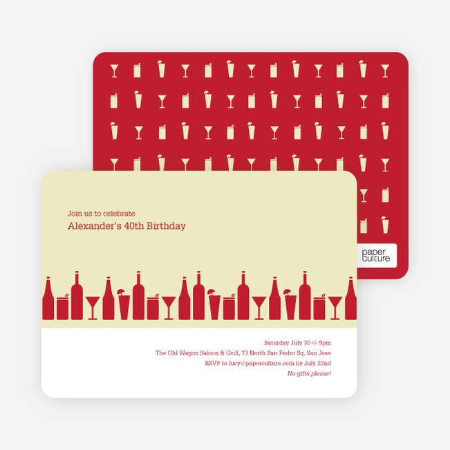 Party Invitations Paper Culture