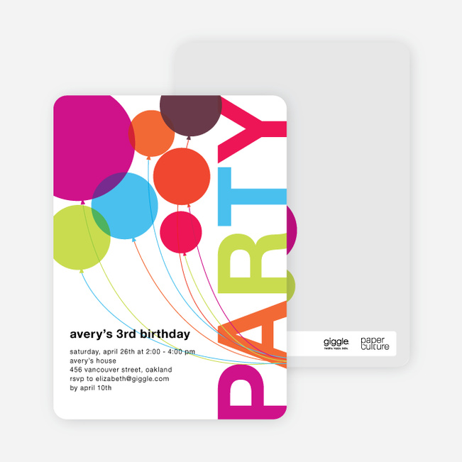 Kids Birthday Invitations Paper Culture - kids birthday invites