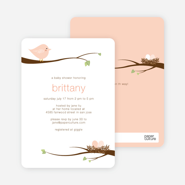 Whimsical Nesting Birds Baby Shower Invitations Paper Culture