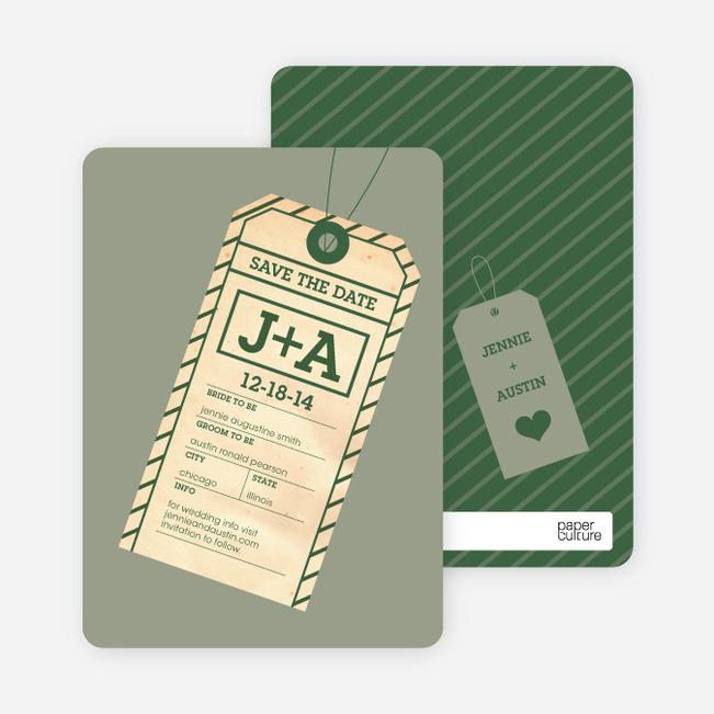 Destination Wedding Save the Date Cards Paper Culture