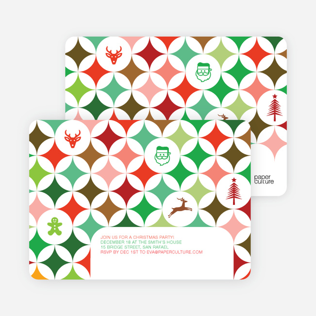 X-Mas Icon Holiday Party Invitations Paper Culture