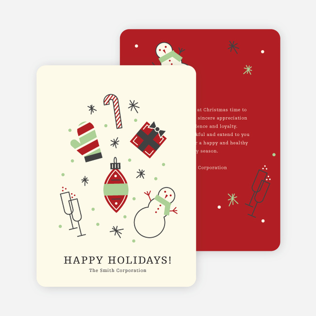 Winter Icons Holiday Party Invitations Paper Culture