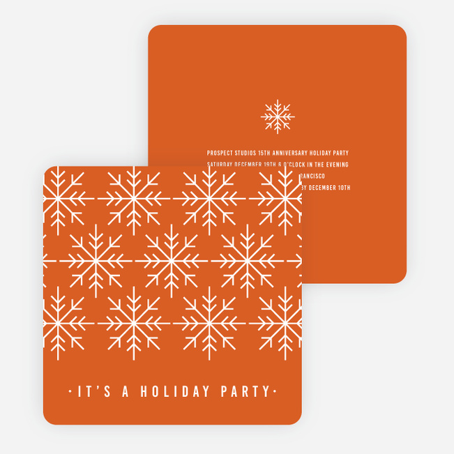 Snowflake Holiday Party Invitations Paper Culture