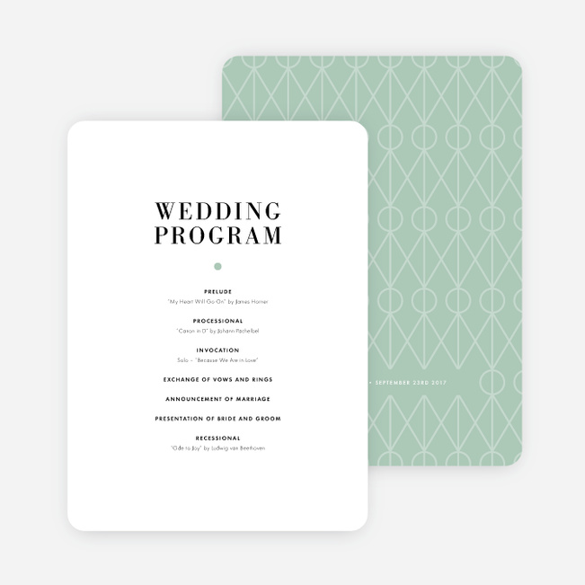 Converging Paths Wedding Programs Paper Culture