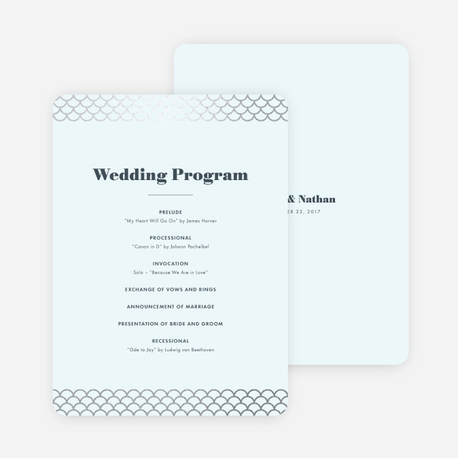 Making Waves Wedding Programs Paper Culture - wedding program