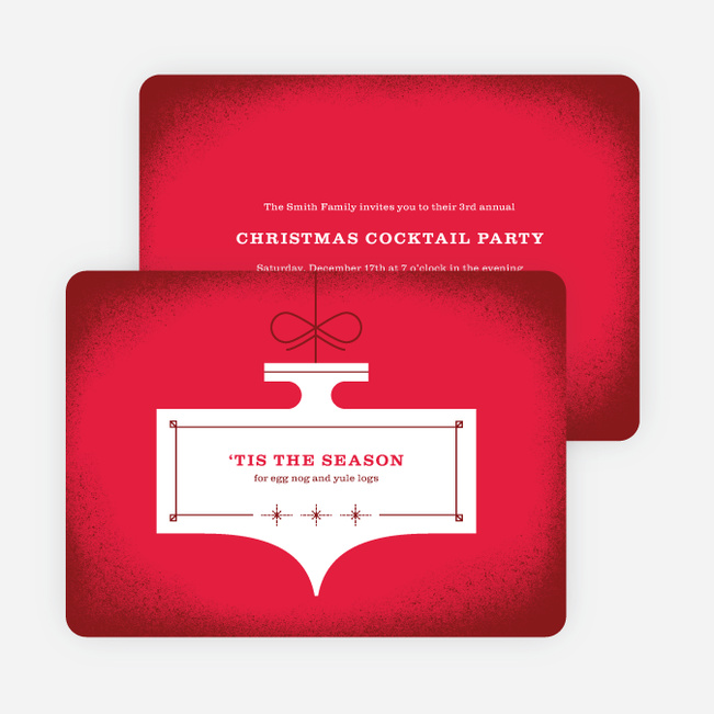 Ornament Party Holiday Invitations Paper Culture