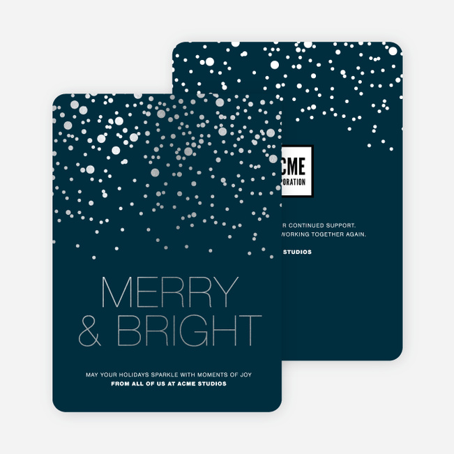 Foil Dot Patterns Corporate Holiday Cards Paper Culture