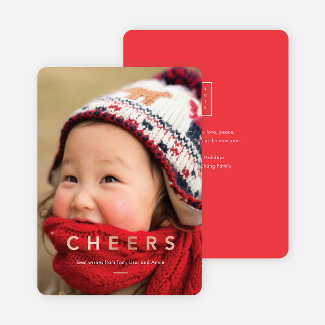 Foil Cheers Holiday Cards Paper Culture