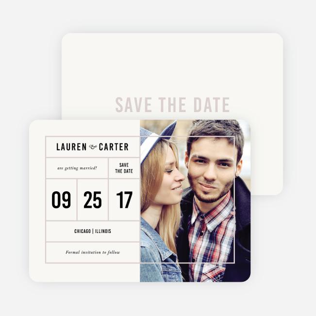 It\u0027s a Date Save the Dates Paper Culture