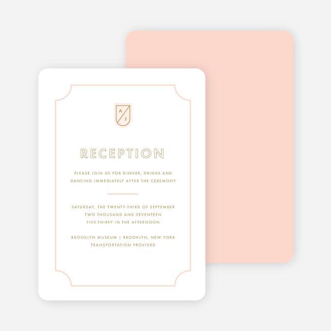 Tomorrow\u0027s Crest Wedding Reception Cards Paper Culture