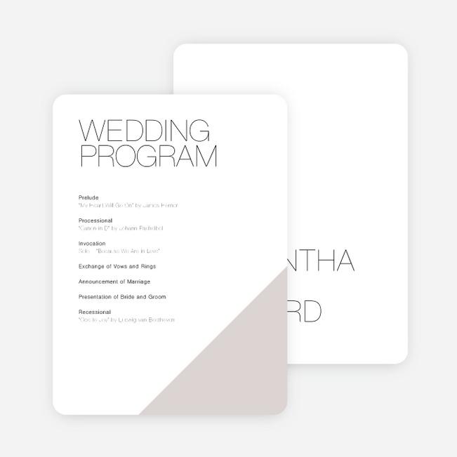 Cornerstones of Bliss Wedding Programs Paper Culture