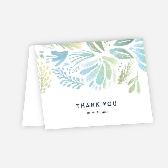 Abstract Accents Wedding Thank You Cards Paper Culture