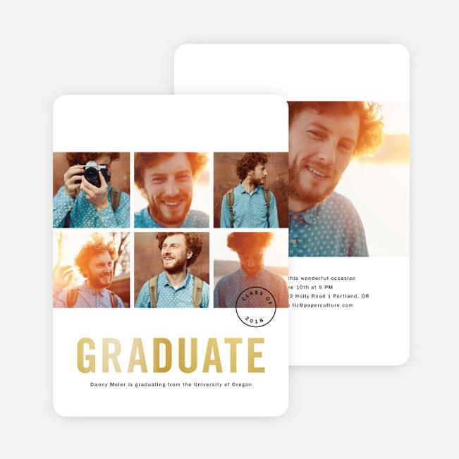 Foil Graduation Announcements And Graduation Invitations Paper Culture