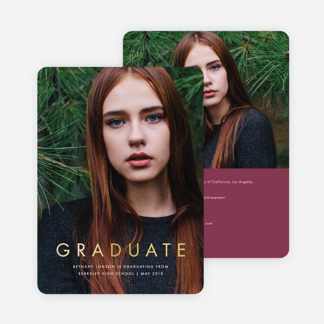 Foil Graduation Announcements And Graduation Invitations Paper Culture - graduation photo invitations
