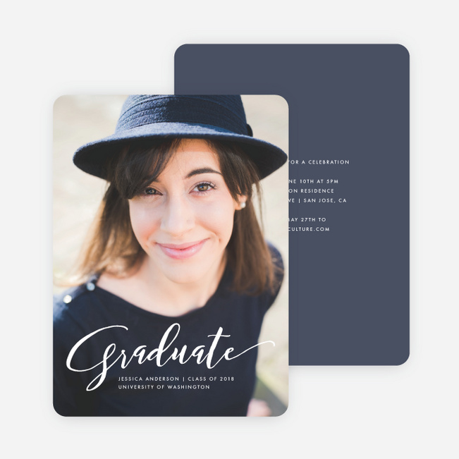 Graduation Announcements And Graduation Invitations Paper Culture - graduation photo invitations
