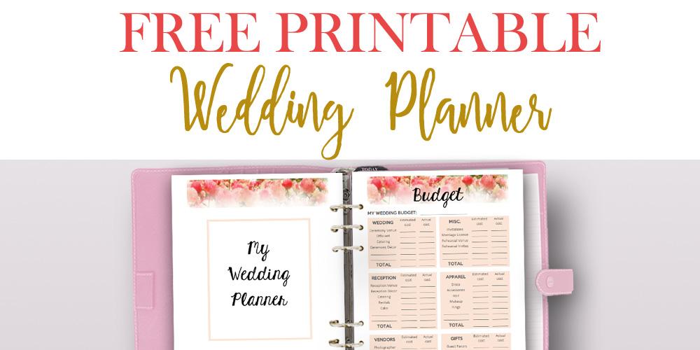 Free Printable Wedding Planner for Wedding Binder!