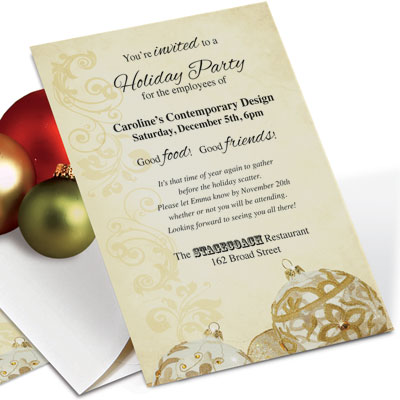 Getting to Yes Business Christmas Invitation Wording PaperDirect Blog