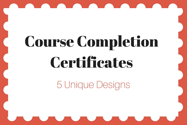 Certificate of Completion Wording PaperDirect Blog