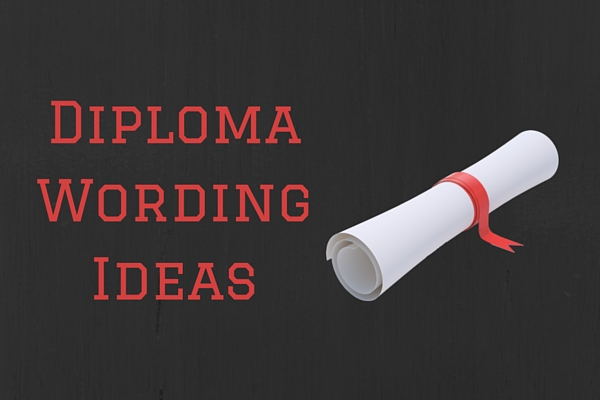 Diploma Wording Ideas (Ready to Use) PaperDirect Blog - Diploma Wording