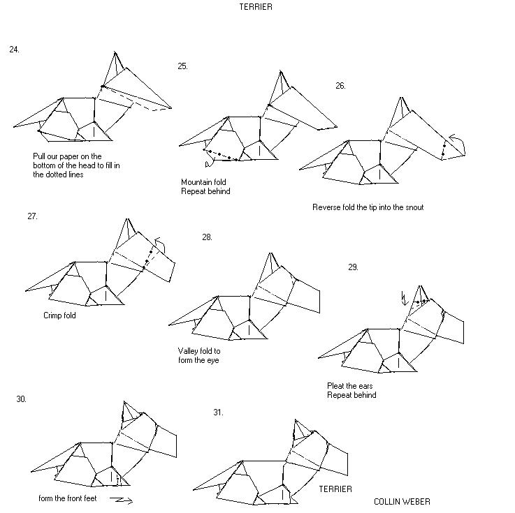 complex origami diagram advance pokemon origami