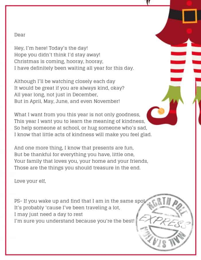 Elf On The Shelf Goodbye Letter- The Perfect Elf On The Shelf