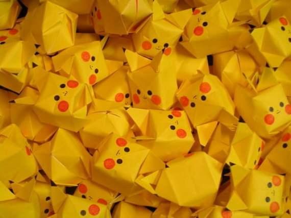 Pokemon Pikachu Origami