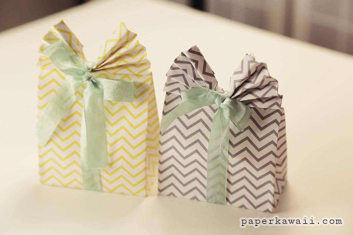 origami gift bag tutorial paper kawaii