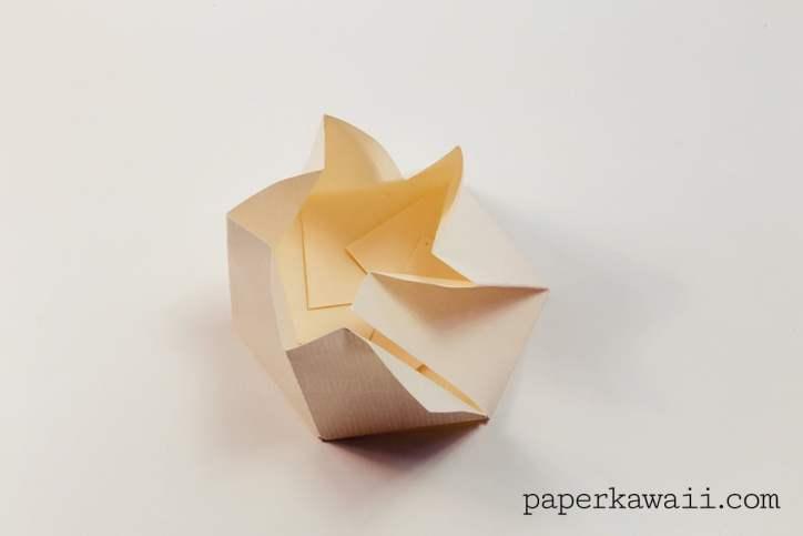 origami hexagonal envelope tutorial video paper kawaii