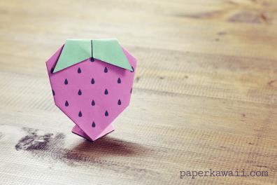 Origami Strawberry Tutorial & Free Printable