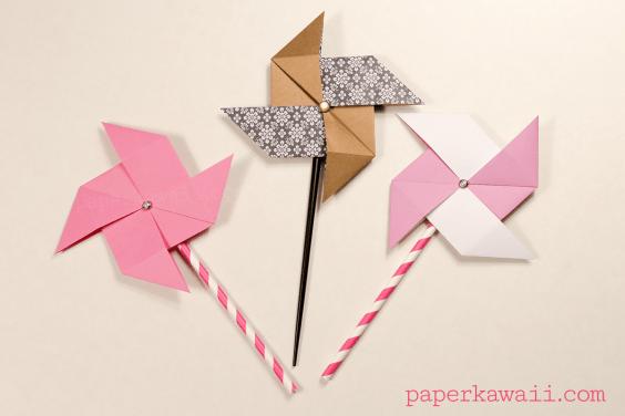 Traditional Origami Pinwheel Video Tutorial