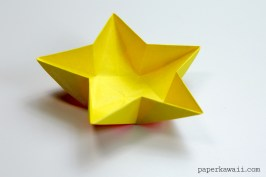 Origami Star Bowl Instructions - Learn how to make a simple origami star dish or bowl, use these to serve snacks at parties or hang them up as paper decorations! ✪ #origami #paper #star #crafts #diy - Tutorial: https://goo.gl/VQD0Z0 - Paper Kawaii 💕