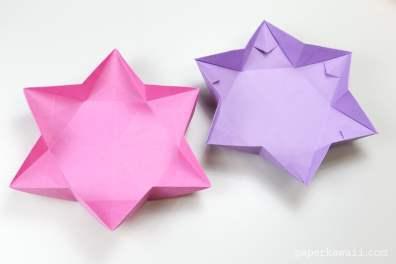 Hexagonal Origami Star Dish / Bowl Instructions