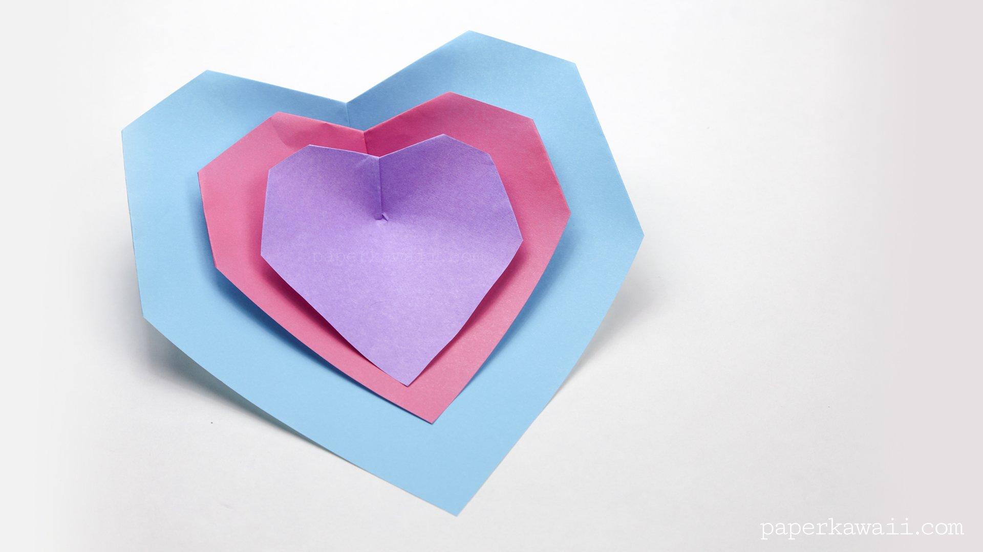 super easy origami heart instructions paper kawaii