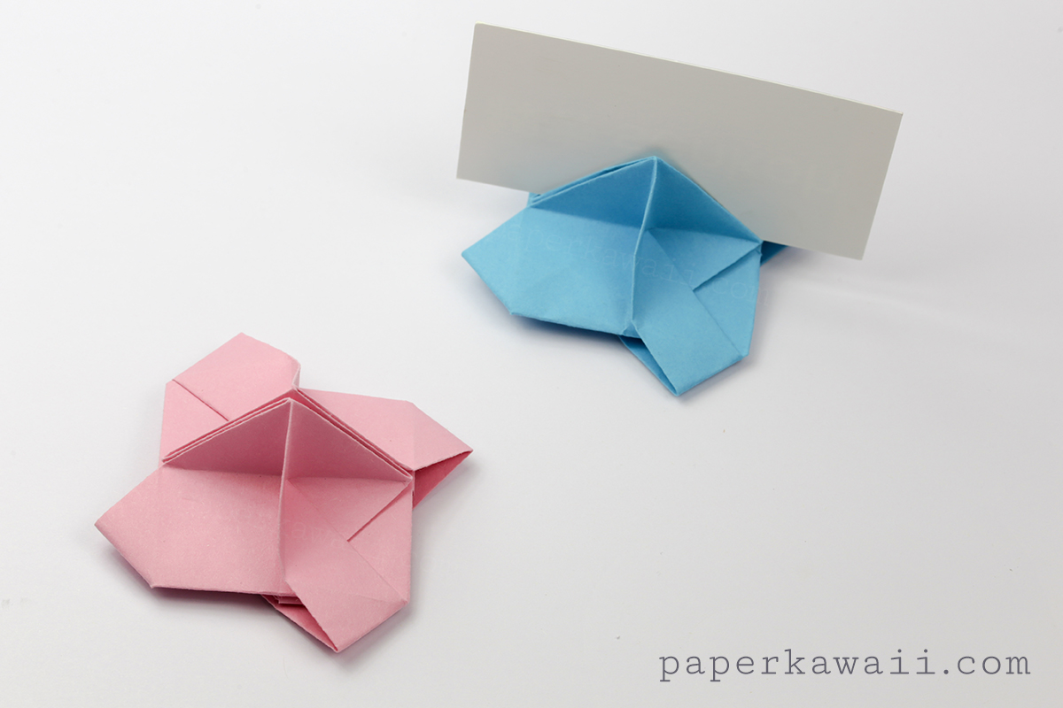 origami card holder instructions paper kawaii