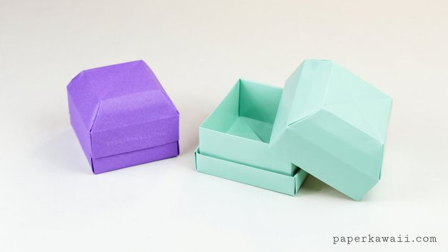 Origami Gem Gift Box Tutorial – Great as a Ring Box!