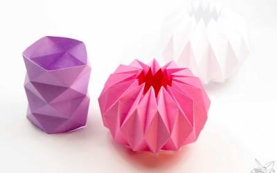 Origami Vase Cover Tutorial – Accordion Origami