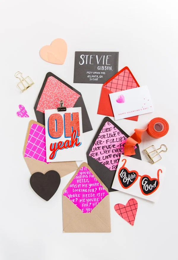 Line It Up How to Make DIY Envelope Liners for Valentine\u0027s Day