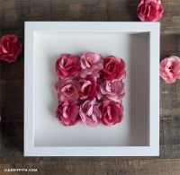 Paper Rose Wall Art