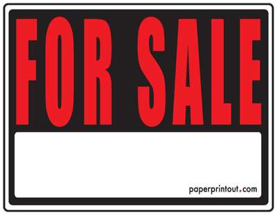 For Sale Signs - Free Printable For Sale Sign Templates
