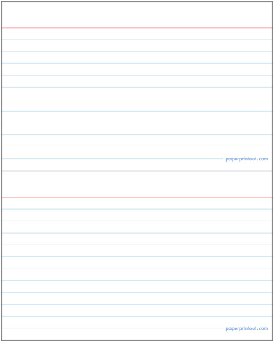 Index Cards - Download a Free Printable Index Card Template