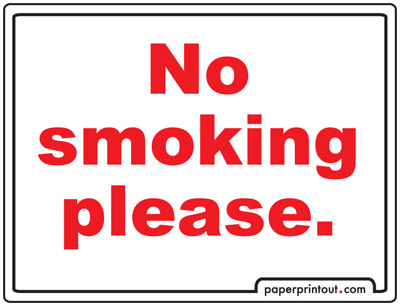 No Smoking Signs - Free, Printable Sign