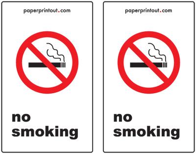 No Smoking Signs - Free, Printable Sign