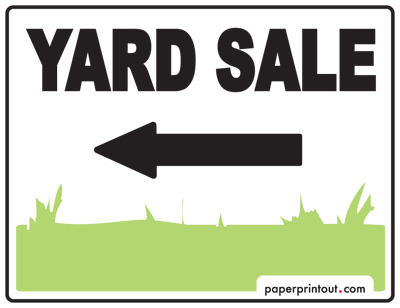 Yard Sale Signs - Download a Free Printable Sign - free for sale signs for cars