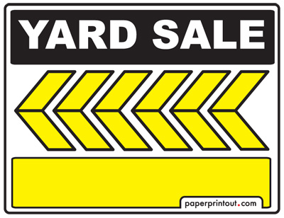 Yard Sale Signs - Download a Free Printable Sign