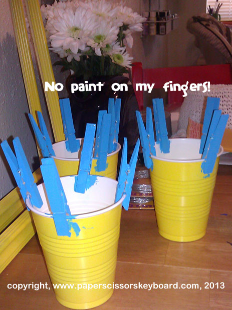 Look, Ma, no paint! On my fingers, I mean.