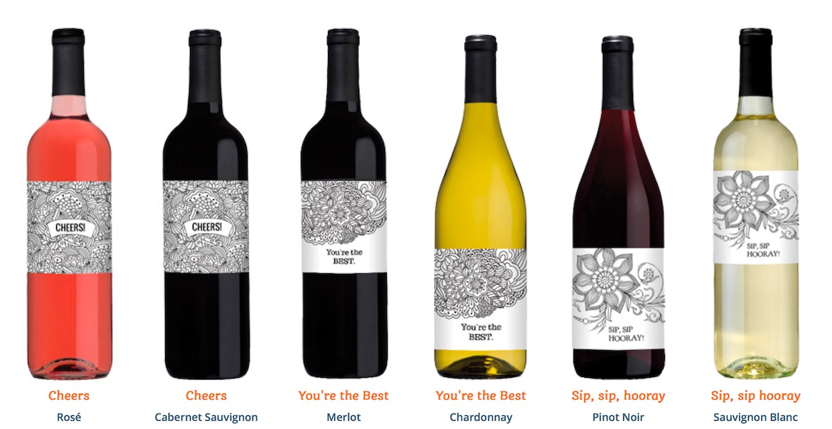 Cool Packaging Color-it-Yourself Wine Label - PaperSpecs - wine label