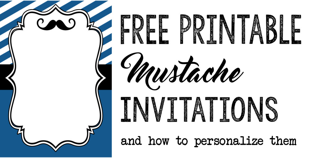 Mustache Party Baby Shower or Birthday Invite - Paper Trail Design