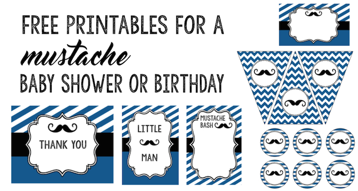 Mustache Party 10 Free Printables - Paper Trail Design