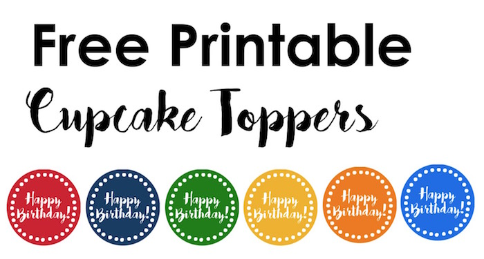 Happy Birthday Cupcake Toppers Free Printable - Paper Trail Design